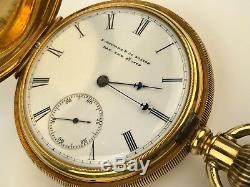 E. Howard & Co. Boston 18k Hunter cased Pocket Watch 149gr. Very Clean & Rare