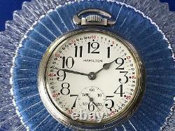 EXCELLENT 1942 Hamilton 992B 21 Jewels 16s Railroad Pocket Watch