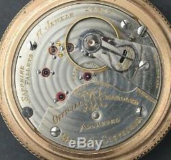 Early Ball 18S Pocket Watch 17j Hamilton Grade 999 RARE Third Run (2 Stars)