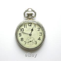 Gents 1959 Hamilton 992b 16 Size 21j Rr Pocket Watch In 14k Wgf Ball Model Case