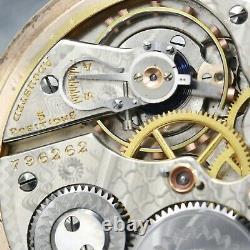 Gold 1910 Hamilton 21 Jewel RAILROAD Grade 992 Pocket Watch Large 16s Antique