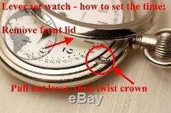 Gold 1913 Hamilton 21 Jewel 992 RAILROAD Grade Pocket Watch Mechanical USA 16s