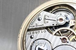 Gold 1918 Hamilton 21 Jewel 992 RAILROAD Grade Pocket Watch Mechanical USA 16s