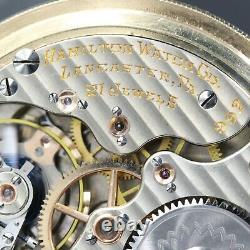 Gold 1920 Hamilton 21 Jewel RAILROAD Grade 992 Pocket Watch Montgomery Dial 16s