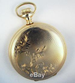Gold Filled 16 Size Pocket Watch Hunting Case For Hamilton Detent Stem Movement