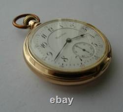 Good 14ct Solid Gold American Hamilton 950 Railroad Grade Pocket Watch 23 Jewels