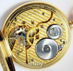 HAMILTON 16 SIZE 17J 14K GOLD HUNTING CASE POCKET WATCH withRARE 2-TONE DAMASKEEN