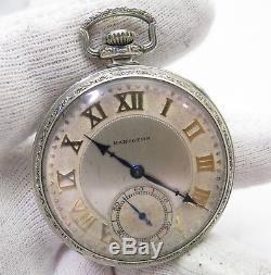 HAMILTON, 1925,17j Model 2, Grade 912 12s Open Face, CLASSIC POCKET WATCH, 129