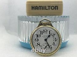 HAMILTON 950B RAILWAY SPECIAL POCKET WATCH 23j. 16s. BOC & CIGARETTE CASE c1962