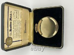 HAMILTON 974 Special 10K G. F. Montgomery Dial RR Pocket Watch With Box & Papers