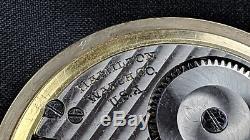 HAMILTON 992B 21 JEWEL 21J Model 5 10k ROLLED GOLD PLATE RAILROAD POCKET WATCH