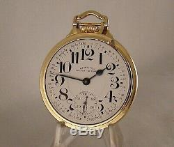 HAMILTON 992B RAILWAY SPECIAL 21j 10k GOLD FILLED OPEN FACE 16sRR POCKET WATCH