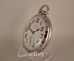HAMILTON 992B RAILWAY SPECIAL 21j STAINLESS STEEL OPEN FACE 16s RR POCKET WATCH