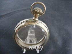 HAMILTON FACTORY SIGNED SALESMAN'S 16s POCKET WATCH DISPLAY CASE