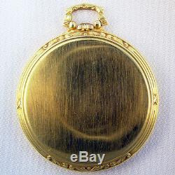 HAMILTON GRADE 400 18K GOLD 21 JEWEL 12s VERY RARE TYCOON SERIES POCKET WATCH