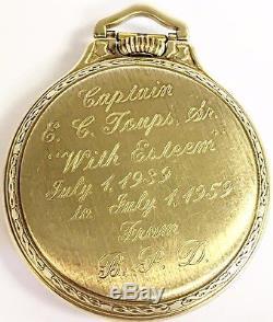 HAMILTON KEYSTONE CASE RAILROAD POCKET WATCH 992B 21 JEWELS 10k GOLD FILLED