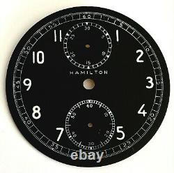 HAMILTON MODEL 23 WWII Military Chronograph Black Dial C 1942
