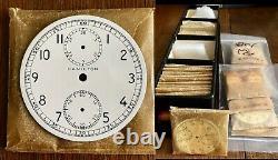 HAMILTON MODEL 23 WWII Military Chronograph WHITE PORCELAIN Dial C 1942