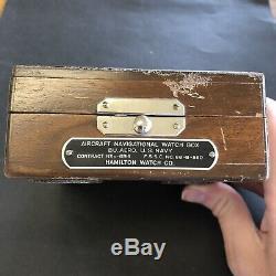 HAMILTON Military Army G. C. T. 22j 4992B NAVIGATION Pocket Watch with ORIGINAL BOX