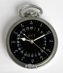 HAMILTON NAVIGATOR MASTER G. C. T. Cal 4992B WW 1945 24h-Anzeige Deck Watch B Uhr