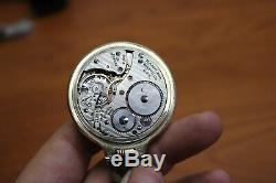 HAMILTON RAILWAY SPECIAL 992B 21 Jewel Case Pocket Watch with Knife 10K Wadsworth