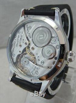 Hamilton 10s 1946 Pocket Watch Marriage Conversion 44mm cal 917 SS Wrist Watch