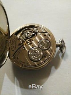 Hamilton 12 size 17 Jewel adjusted (1924) grade 912 pocket watch gold filled