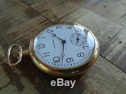 Hamilton 12s Pocket Watch, 19 jewels, ADJUSTED 5 POSITIONS, 900 movement
