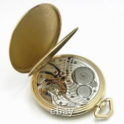 Hamilton 14K Cal. 921 Vintage Pocket Watch Manual Wind 21Jewels 46mm 1940's