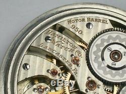 Hamilton 16 Size 23 Jewel Model 950 Railroad Pocket Watch. 101R