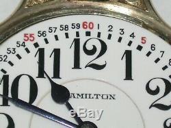 Hamilton 16 Size 23 Jewel Model 950E (ELINVAR) Railroad Pocket Watch. 79T