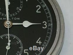 Hamilton 16 Size Military Chronograph Model 23 Pocket Watch. 110Y