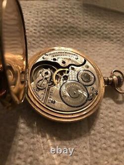 Hamilton 16 size 5 position hunter case pocket watch