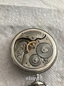 Hamilton 16 size 972 pocket watch sterling case