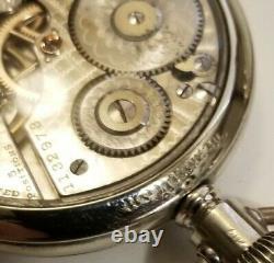 Hamilton 16S. 21 jewel adj grade 990 Blindmans dial (1915) Hamilton display case