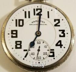 Hamilton 16S. 21 jewel adj grade 992B porcelain Railway Special dial (1946)