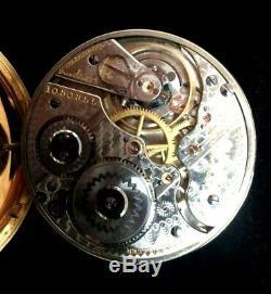 Hamilton 16S 21J 992 Railroad Pocket watch Rarer Caboose Engraved Case Fine