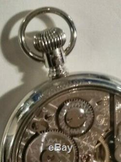 Hamilton 16S. Fancy dial 992 adj. 21 jewels Hamilton glass back display case