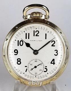 Hamilton 16s 21J 992B MONTGOMERY Dial Railroad Pocketwatch NICE