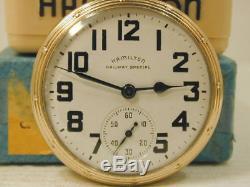 Hamilton 16s 21J Railway Special & Original Box 992B RR Pocket Watch