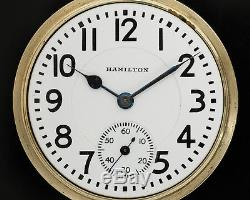 Hamilton 16s 21j 992 for Restoration in NICE GREEN GOLD FILLED Case from Estate