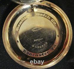 Hamilton 16s, 23j, Grade 950L, 14K GF Factory Case, ca 1912-13, s/n 854130