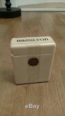 Hamilton 16s 950B 23J made in 1955. With bakelite cigarette box. Near mint