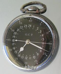 Hamilton 16s Military Pocket Watch 22 jewels 6 adj GCT original case US govt
