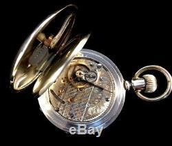 Hamilton 18s 21Jewel 940 Railroad Pocket watch Massive 4oz. Silver Extra Fine