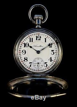 Hamilton 18s 946 23Jewel Railroad Montgomery Dial Fancy SilverCase Extra Fine