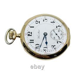 Hamilton 1910 950 Model 3 23j 16s Gold Fill Open Face Pocket Watch Service 3/20