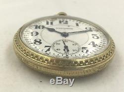 Hamilton 1930 Railroad Pocket Watch 14k Gold Filled 992 21 Jewels Double Roller