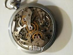 Hamilton (1942) model 23 chronograph military 19 jewel adjusted military case