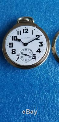 Hamilton 21 Jewel 992b Authentic Railroad Pocket Watch